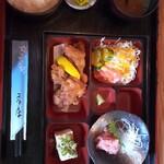 ごはん家 はせ川 - 料理写真:ランチの唐揚げ定食