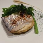 TRATTORIA CREATTA - メイン魚料理 太刀魚の炙り焼き