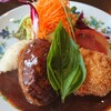 浅井食堂 - 料理写真:ハンバーグとエビクリームコロッケのランチ