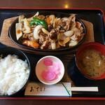 レストラン やかた - 料理写真:きのこ肉野菜定食