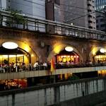 酒亭 じゅらく - 神田川沿いのオープンテラス