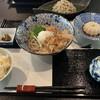 蕎麦カフェ あんのん - 料理写真:梅紫蘇蕎麦にごはんと胡麻豆腐追加