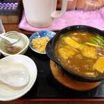 つる鶴 - 料理写真:カレー煮込みうどん900円