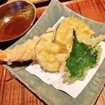 133359027 - 天付き(海老と野菜三種)