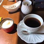 リセンヌ - セットのヨーグルトとドリンク 私はホット、夫はアイスコーヒー