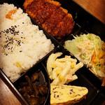 カフェ・恵比須屋 - 料理写真:日替わりランチ650円 この日は味噌かつでした。