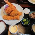 小名浜 - ミックスフライ定食 1,700円