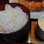 小名浜 - ご飯、茶碗蒸し