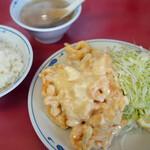 北京料理 松鳳 - エビマヨと白飯