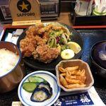 蔵元居酒屋 清龍 - 鶏の唐揚げ定食