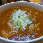 らーめん惣太郎 - 辛味噌つけ麺のつけ汁アップ