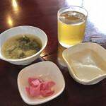 天府酒家 - スープという名の味噌汁など