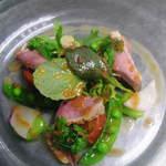 a bientot - 鴨胸肉のスモーク、元気野菜たちとのサラダ仕立て