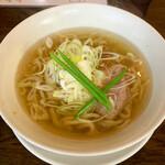 手打ち麺 やす田 - いりこ塩(¥750)