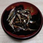 菊乃井 - 稚鮎の醤油煮 ワタの苦味が生きているそうです。