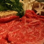 つりばし荘 - 料理写真:あしたか牛のすきやき