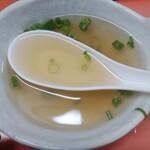 上海軒 - 焼めし(大)に付いてくるスープ