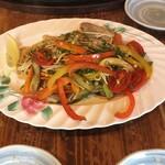 お好み焼き工房 こはち亭 - 野菜塩焼きそば。