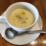 薪釜屋YOSHIZO - 〇トウモロコシの冷製スープ