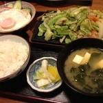 味処冨士 - 野菜炒め定食