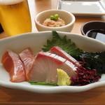 和食 たちばな - 季節の造り二種盛りと前菜小鉢