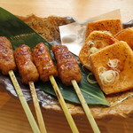 和食 たちばな - つくねと豆腐揚げ田楽