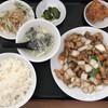 台湾料理 福祥閣 - 料理写真:鶏肉の黒胡椒炒め定食650円