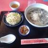 しいたけ飯店 - 料理写真:しいたけラーメン+半炒飯