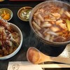 そば処一粒 - 料理写真:天丼そばセット(かしわに変更)大盛220円(税込)