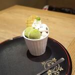 SNOOPY茶屋 - スヌーピー抹茶あんみつパフェ