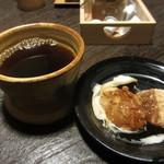 とんかつ 砦ヤ - セット 手作りワラビモチ&コーヒー