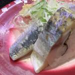 回し寿司 活 活美登利 - 光もの三貫