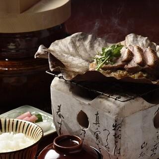 うかい竹亭 - 料理写真:五郎兵衛米&朴葉焼