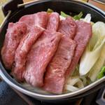 和牛黒澤 - 火入れ前のすき焼き