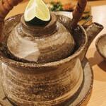 藁焼 みかん - 土瓶蒸し
