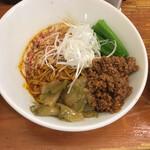133457136 - 汁なし担々麺(950円)+麺大盛り(150円)。挽肉たっぷりです。