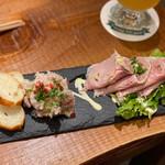 クラフトビアマーケット - イベリコ豚のロースハムとリエット