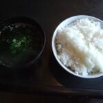 うしわか - ライス(中)とスープ