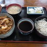 満留賀 - 料理写真:かき揚げ丼蕎麦セット