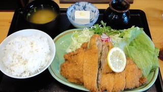 食事処 みしまや - チキンカツ定食 ¥1260