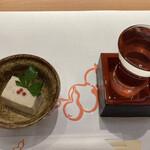 133464719 - 田中六十五とお通しのごま豆腐