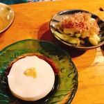 ぱやお - ジーマミー豆腐と島ラッキョ塩漬け