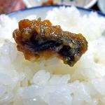 多菜田 - 「多菜田定食 天ぷら」ご飯に神楽南蛮味噌をのせて