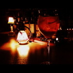 STAG - カンパリソーダ。グラスがオシャレ。