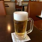 キッチンカフェ ほっぷ - 「生ビール」 480円也。