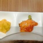 広東炒麺 南国酒家 - かぼちゃ、酢豚の肉、厚揚げ甘味噌掛の3品