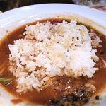 太陽のトマト麺Next - 残ったスープにご飯をドボン!!