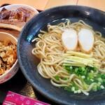 麺家 丸翔 - 丸翔そば(大) と じゅーしー