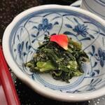 うなぎ 仲じま - 小鉢(ほうれん草胡麻和)