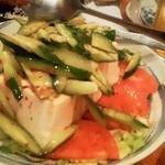 13351280 - 120605東京 秋葉原とら八 豆腐サラダ?
